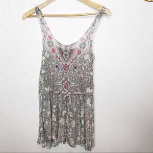 Free People Tunic Tank Front Tie